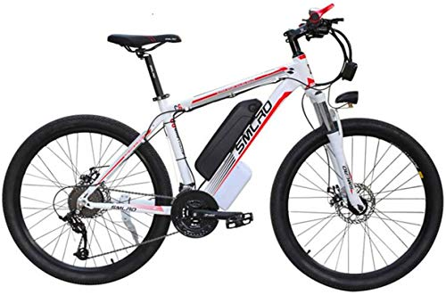 RDJM Ebikes 26'' Electric Mountain Bike 350W Commute E-Bike with removeable 48V Lithium-Ion Battery 21 Speed gear Three Working Modes