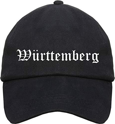 sostex Württemberg Cappy - Altdeutsch Bedruckt - Schirmmütze Cap Einheitsgröße Schwarz