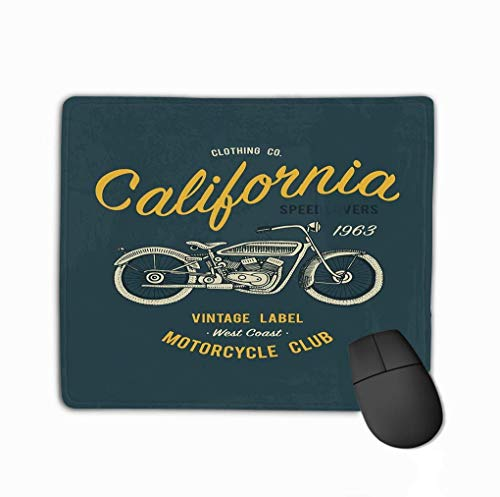 Standaard formaat Anti-lip Rubber Mousepad Print Motorfiets Transport Ontwerp Animal Grunge Achtergrond Vintage Lettering Print