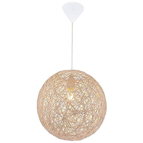 Hochwertige Pendel Leuchte Beleuchtung Hänge Lampe Papier Geflecht Kugel rund Globo 15252B