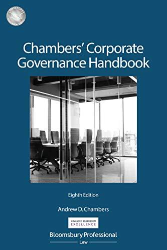 Chambers' Corporate Governance Handbook (Directors' Handbook Series) (English Edition)
