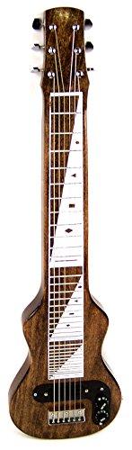 Joe Morrell Pro Series Poplar Body 6-String Lap Steel Guitar - Vintage Brown Finish USA