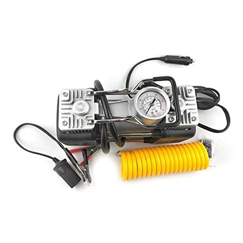 SLATIOM Bomba de inflado neumáticos compresor Aire Coche 2 Cilindros Emergencia portátil 12v 150psi Universal para Camiones