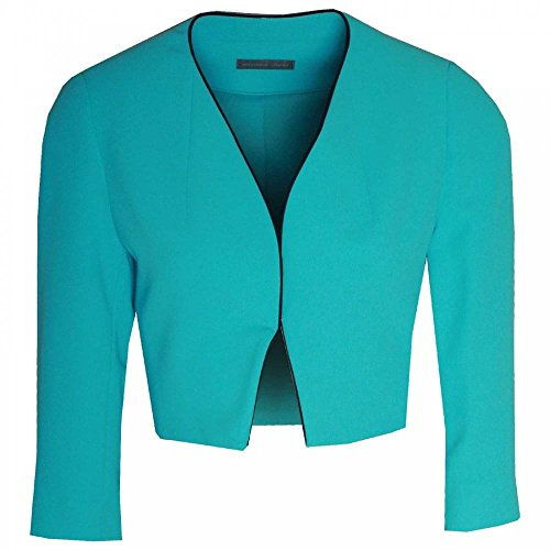 Michaela Louisa Edge to Edge Short Jacket 16 Aqua