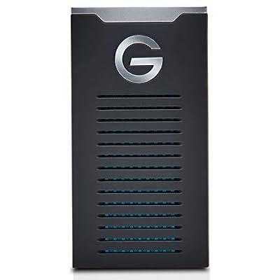 G-Technology 1TB G-DRIVE mobile SSD Durable Portable External Storage - USB-C (USB 3.1), Up to 560 MB/s - 0G06053-1, black