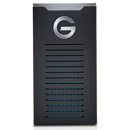 G-Technology 1TB G-DRIVE mobile SSD Durable Portable External Storage - USB-C (USB 3.1), Up to 560 MB/s - 0G06053-1, black
