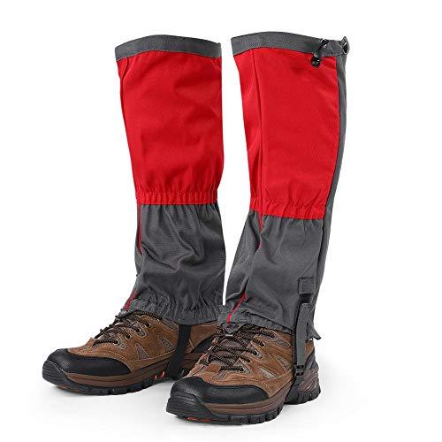 Tbest Wandern Gamaschen,1 para Unisex Schnee Bein Gamaschen Outdoor wasserdichte Sportstiefel Gamaschen Wandern Wandern Klettern Jagd Radfahren Leggings Abdeckung für Erwachsene(Rot)
