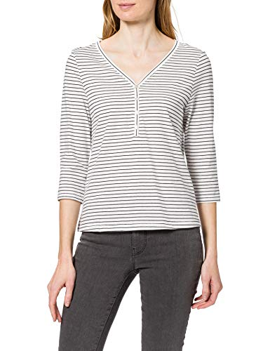 Only ONLMARY Life 3/4 Top JRS Camiseta, Cloud Dancer/Stripes:Night Sky, S para Mujer