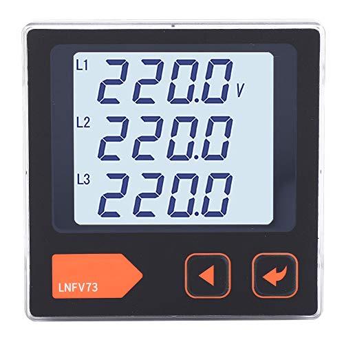 Medidor de voltaje de corriente de continuidad inteligente de panel de voltímetro trifásico para sistema de distribución de energía para fábrica para el hogar(LNFV73)