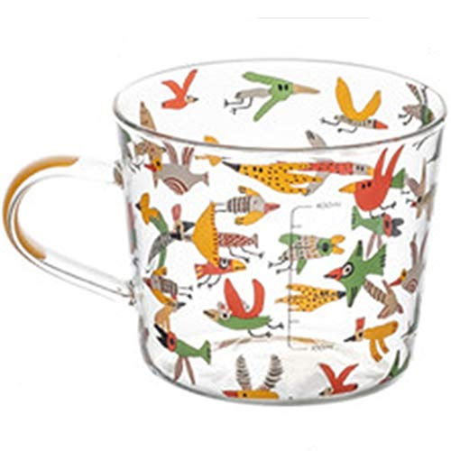Vasos Café Borosilicato Taza Té Resistente Calor Taza Medir con Asa Apto para Microondas Jarra Medidora Taza Té, Café, Latte, Cappuccino, Espresso, Cerveza (Color : B, Size : 500ML)
