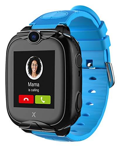 XPLORA XGO 2 - Telefon Uhr für Kinder (SIM-frei) - 4G, Anrufe, Nachrichten, Schulmodus, SOS-Funktion, GPS, Kamera, LED-Licht und Schrittzähler - 2 Jahre Garantie (BLAU)