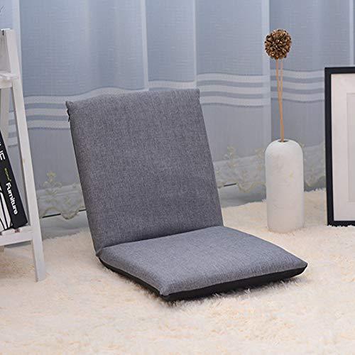 QMKJ Haut Chaise Longue chaises Longues canapé Sofa Multifonction intérieur et extérieur lit de Balcon Coussin pour Adultes Enfants Adolescents 40CM * 82CM,Gray
