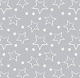 Babyfrücht Baumwollsatin HL: Sterne Navy Fb. grau,