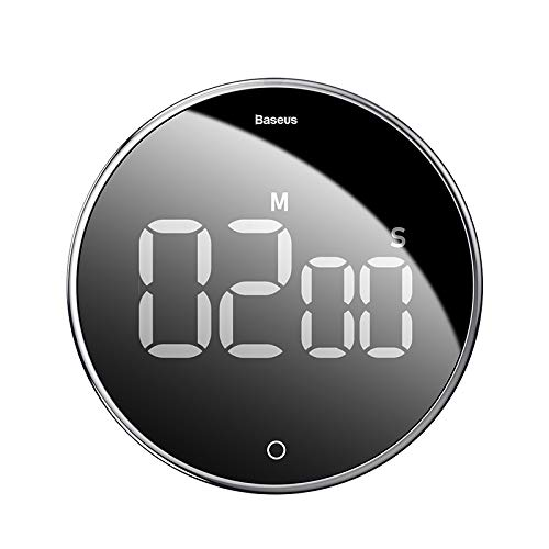 Kitchen Timer Kitchen Countdown Timer Magnetic LED Digital Timer Quiet Counting Loud Alarm Sound Rotation Control Reading Timer for Teacher Kids