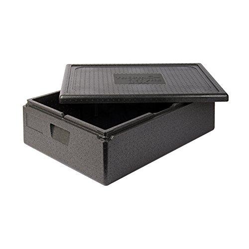 Thermo Future Box Kühlbox Transportbox Warmhaltebox und Isolierbox mit Deckel, Thermobox aus EPP (expandiertes Polypropylen), schwarz, 42 l