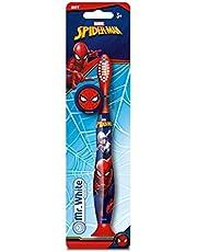 Mr White Jr - Cepillo de dientes manual con tapa de protección Spider-Man