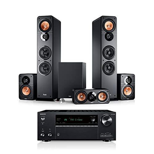 Teufel Ultima 40 Surround AVR 5.1-Set Schwarz / Schwarz Heimkino Lautsprecher 5.1 Soundanlage Kino Raumklang Surround Movie High-End HiFi