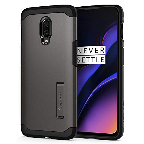 Spigen Tough Armor with Extreme Heavy Duty Protection and Air Cushion Technology Designed for OnePlus 6T Case (2018) - Black
