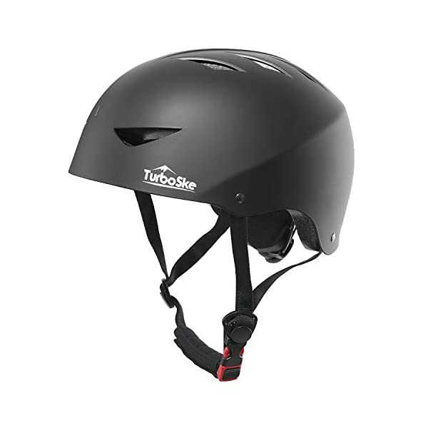 TurboSke Skateboard Helmet, ASTM & CPSC Certified Bike Helmet BMX Helmet Multi-Sport...