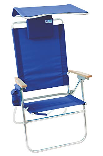 Rio Beach Hi-Boy High Seat 17' Folding Beach Chair with Canopy