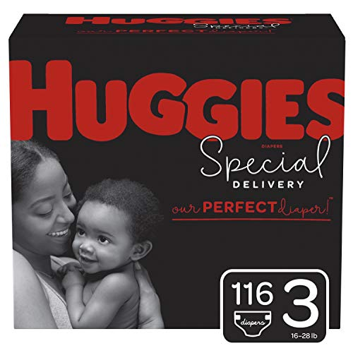 Huggies Special Delivery Hypoallergenic Baby Diapers, Size 3, 116 Ct, One Month Supply California