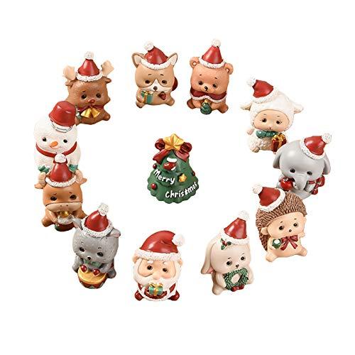 Elonglin 10 Pièces Décoration de Noël Figurine Noel...