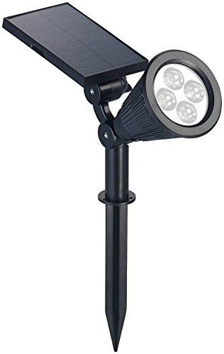 Luminea Solar Gartenstrahler: Solar-LED-Spot mit Erdspieß für Garten & Co, 200 Lumen, 1,5 Watt, IP44 (Solar Gartenstrahler mit Erdspieß)