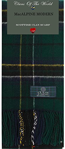 I Luv LTD MacAlpine Modern Tartan Clan Scarf 100% Soft Lambswool
