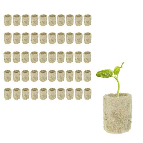 Apofly Rockwool Cube Lana De Roca Rockwool Arranque Enchufes Cubo De Propagación Hidropónica Hortalizas Bloque Cilíndrico De Semillero Invernaderos De Cultivo Sistema Complementos Jardinería 5