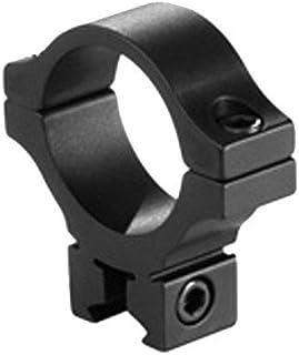 BKL Single 30mm Single Strap Ring, 3/8 or 11mm Dovetail, .60 Long, Low, Black