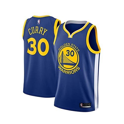 Stephen Curry Trikot, Nr. 30 Golden State Warriors Curry Herren Icon Edition Swingman Sporttrikot und Sportshorts-Blue B-S(165.173CM)