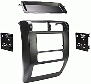 Carxtc Double Din Install Car Stereo Dash Kit for a Aftermarket Radio Fits 2003-2006 Jeep Wrangler Trim Bezel is Painted Black