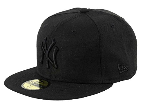 New Era New York Yankees 59fifty Cap Black on Black - 7 1/4-58cm