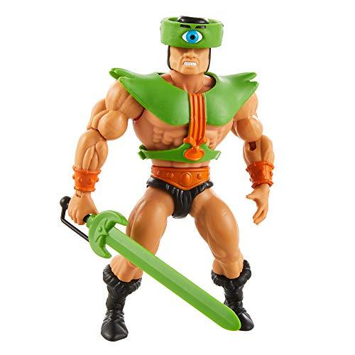 Masters of the Universe (Masters del Universo Orígenes) Figura Triclops, muñeco articulado de juguete (Mattel GRX02)