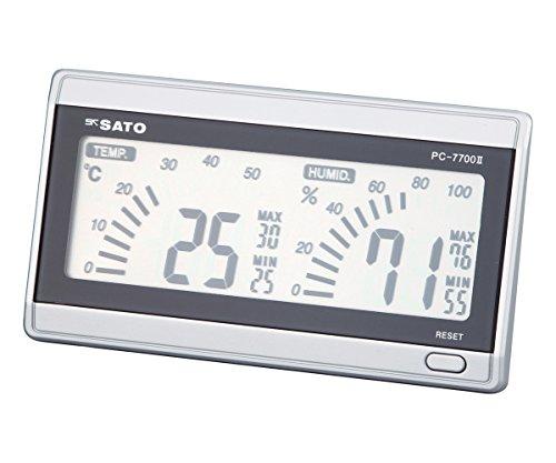 佐藤計量器(SATO) 温湿度計 デジタル 最高最低温湿度記録 卓上・壁掛け可 ルームナビ PC-7700II