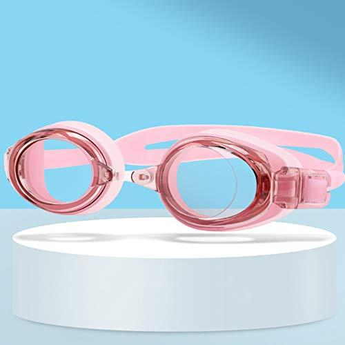 QQSS Gafas de Natación para Miopía para Adultos, Sin Fugas Antivaho Protección UV Mirror Gafas de Natación (Grados -0 A -6.0)