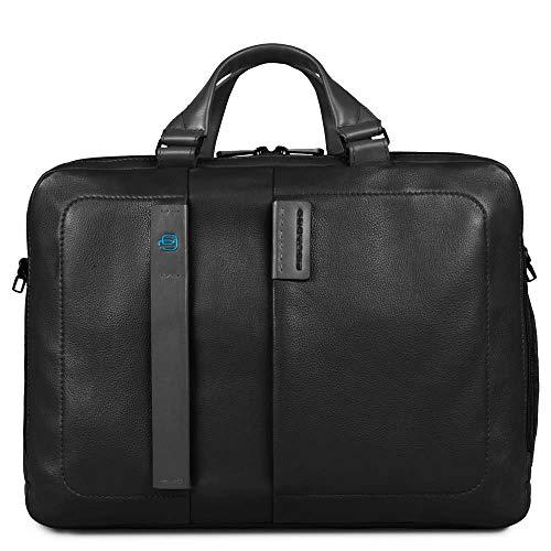 Piquadro CA3347P15 Briefcase, Pulse Line, Black (Black) - CA3347P15/N