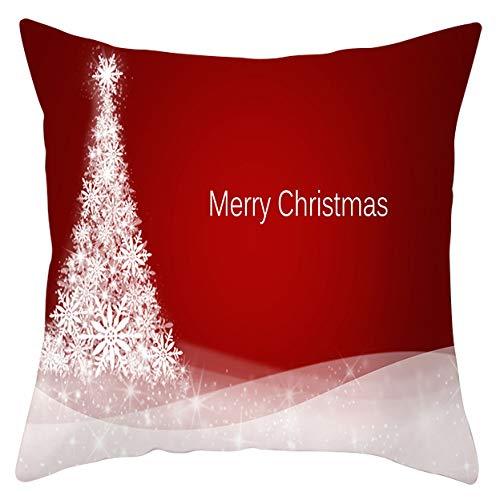 yxr New Santa Claus Elk Snowflake Series Pillowcase Holiday Home Decoration Sofa Cushion Cover