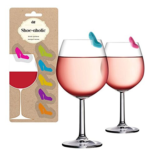 DCI Shoeaholic Drink Markers (Set of 6), Multicolor