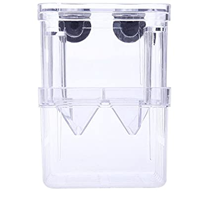 Acrylic Self-floating Fish Fry Breeding Box Hatchery Isolation Incubator Divider Tank for Aquarium Equipment L Size