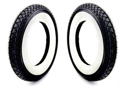 2x Weißwand Reifen Kenda 3.50-10 Zoll 4PR 51J für China Roller/Scooter, Hercules CV, Dax 50 ST70 ZB50 Monkey