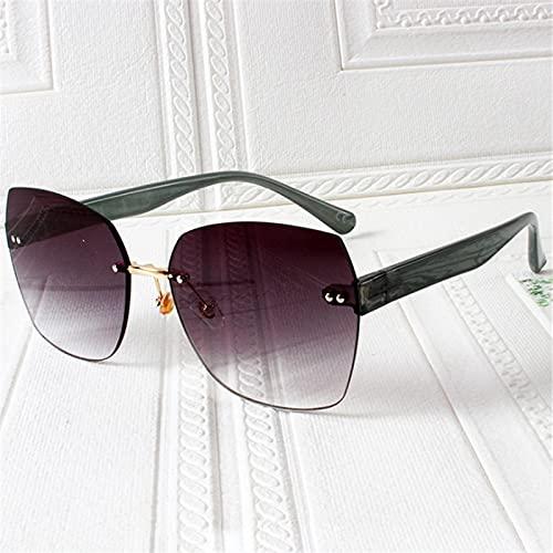 Gafas Sol De Hombre Mujer Polarizadas Sunglasses Gafas De Sol Sin Montura De Moda para Mujer, Gafas De Sol De Lujo Retro con Bord