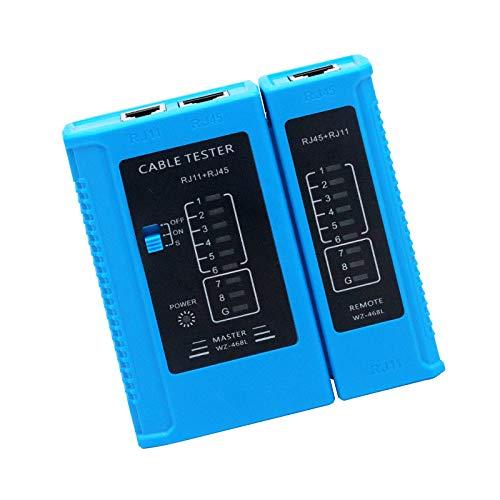 RUIZHI Probador de Cable de Red, Herramienta de Prueba de Cables de Red RJ45 RJ11 RJ12 CAT5 CAT6 UTP USB Comprobador de Cable LAN