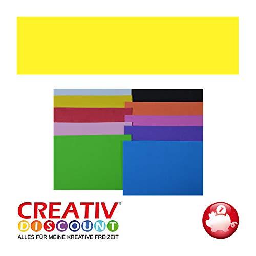 CREATIV DISCOUNT® NEU Moosgummiplatte, 29 x 20mm, 1 STK., Gelb