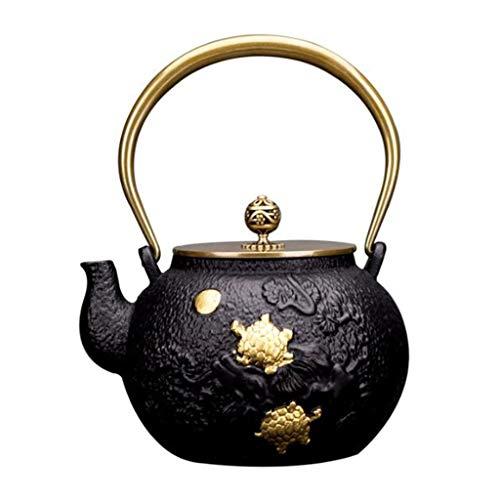 Tea Pot, Heat Resistant Antirust Tea Strainers, Japanese Vintage Cast Iron Tea Maker for Party Office Home, 1.2L