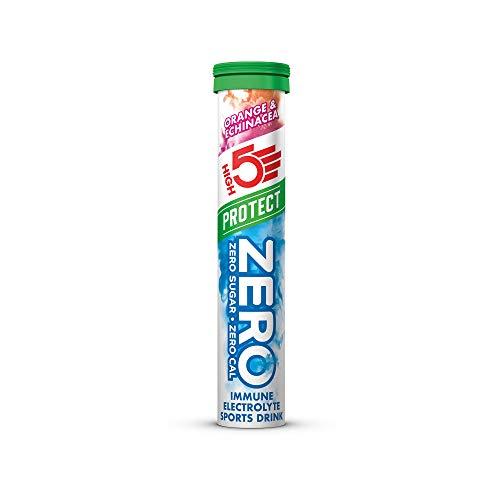 HIGH5 Zero Protect Immune Booster Electrolyte Hydration Tablets Added VIT C & D (Orange & Echinacea) (20 Tab Tube)