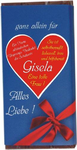 """Schokolade \""""ganz allein für Gisela\"""" 100 g"""