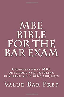 MBE Bible For The Bar Exam: Comprehensive MBE questions and tutoring covering all 6 MBE subjects