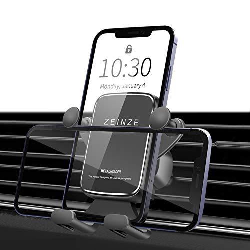 ZEINZE Soporte Móvil Coche, Soporte del Coche Móvil Universal, Rotación de 360° del, para iPhone 12 Pro/MAX, Samsung, Huawei, Adecuado para teléfonos Inteligentes de 3-7 Pulgadas - Negro