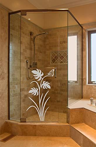 rs-interhandel® Sichtschutz Aufkleber Folie Glasdekorfolie Bad Dusche Duschwand Badezimmer Glasdekor GD112